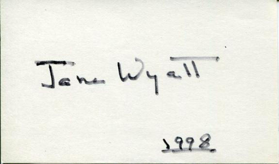 Jane Wyatt Star Trek Lost Horizon Father Knows Best Signed Autograph