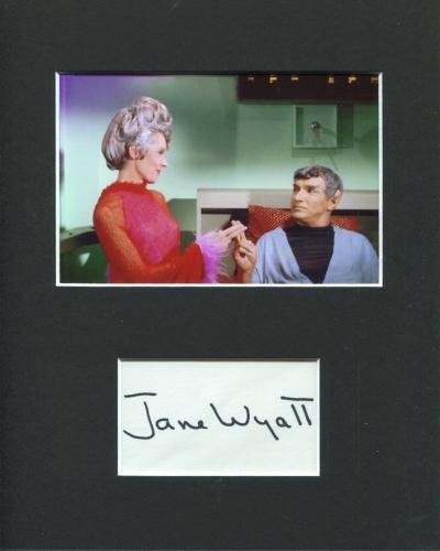 Jane Wyatt Star Trek Spock's Mother Rare Signed Autograph Photo Display