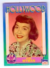 Jane Wyman autographed trading Card (Johnny Belinda Oscar Best Actress) 1991 Hollywood Walk of Fame #52