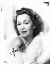 JANE WYMAN HAND SIGNED 8x10 PHOTO       BEAUTIFUL HOLLYWOOD LEGEND       JSA