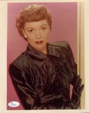 Jane Wyman Jsa Coa Hand Signed 8x10 Photo Authenticated Autograph