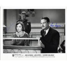 Jane Wyman & Lew Agres Autographed / Signed 8x10 Photo
