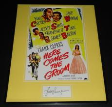 Jane Wyman Signed Framed 16x20 Photo Poster Display Here Comes The Groom