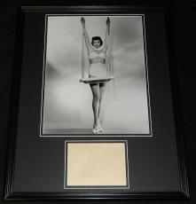 Jane Wyman Signed Framed 16x20 Photo Poster Display JSA Dated 1945