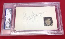 Jane Wyman signed Index Card Slabbed PSA/DNA #83107863