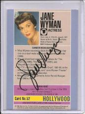 Jane Wyman Signed Starline Hollywood card-Pose 1