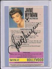Jane Wyman Signed Starline Hollywood card-Pose 2
