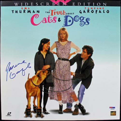 Janeane Garofalo Cats & Dogs Signed Laserdisc Cover PSA/DNA #J00694