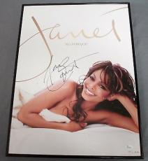 Janet Jackson Signed and Framed Poster All For You JSA COA