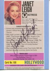 Janet Leigh Actress In Alfred Hitchcock Film Psycho Signed Card Autograph