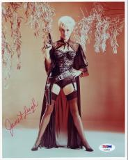 JANET LEIGH HAND SIGNED 8x10 COLOR PHOTO        VERY SEXY POSE        PSA