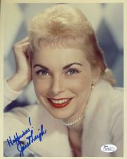 Janet Leigh Jsa Hand Signed 8x10 Photo Authenticated Autograph