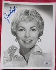 Janet Leigh Psycho Actress Signed B&W 8x10 Photo BAS Beckett Authentication