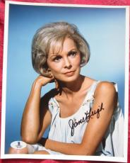 Janet Leigh Psycho Actress Signed Color 8x10 Photo BAS Beckett Authentication