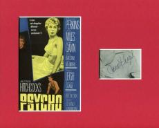 Janet Leigh Psycho Oscar Nominee Rare Signed Autograph Photo Display