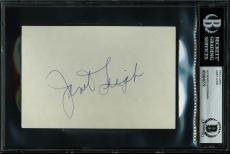 Janet Leigh Psycho Signed 4x6 Index Card Autographed BAS Slabbed