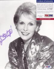 Janet Leigh Signed 8x10 Photograph Autographed Photo Actress Psycho PSA DNA
