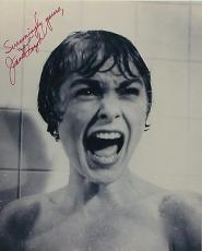 Janet Leigh Signed Autographed Psycho Shower Scene Bw Photo Rare!