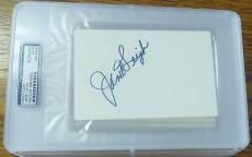 Janet Leigh Signed Psycho 4x6 Index Card PSA/DNA Slab