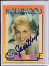 Janet Leigh Signed Starline Hollywood card - Pose 1