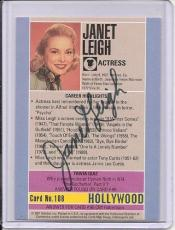Janet Leigh Signed Starline Hollywood card - Pose 2