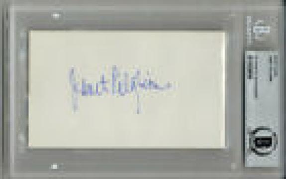 JANET PILGRIM SIGNED 3x5 INDEX CARD CELEBRATED PLAYBOY PLAYMATE RARE BECKETT BAS