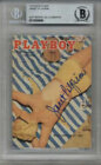 Janet Pilgrim Signed #4 Playboy Trading Card Playmate Encapsulated Beckett Bas