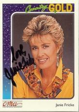 Janie Fricke Signed 1992 Sterling Country Gold Trading Card #65