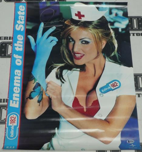 Janine Lindemulder Signed Original Blink 182 Enema of the State 18x24 Poster BAS