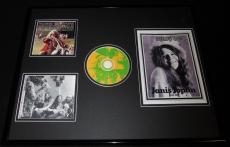 Janis Joplin 16x20 Framed Rolling Stone Tribute & Greatest Hits CD Display