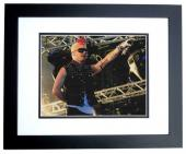 Jared Leto Signed - Autographed 30 Seconds to Mars Concert 11x14 inch Photo BLACK CUSTOM FRAME - Guaranteed to pass PSA or JSA