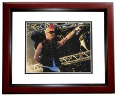 Jared Leto Autographed 30 Seconds to Mars Concert 11x14 Photo MAHOGANY CUSTOM FRAME