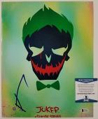 JARED LETO Signed 11x14 Photo Suicide Squad The Joker Auto ~ BAS Beckett COA