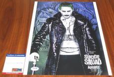 Jared Leto Signed 11x14 Suicide Squad Joker 30 Seconds to Mars Oscar PSA/DNA