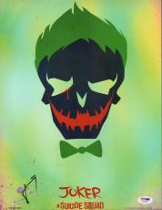 Jared Leto Signed Auto'd 11x14 Photo Psa/dna Aa30145 Joker Suicide Squad Harley