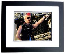 Jared Leto Signed - Autographed 30 Seconds to Mars Lead Singer 11x14 Photo BLACK CUSTOM FRAME