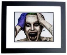 Jared Leto Signed - Autographed Suicide Squad 8x10 Photo BLACK CUSTOM FRAME - The Joker