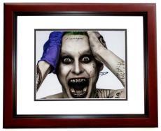Jared Leto Signed - Autographed Suicide Squad 8x10 Photo MAHOGANY CUSTOM FRAME - The Joker