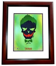 Jared Leto Signed - Autographed Suicide Squad 8x10 inch Photo MAHOGANY CUSTOM FRAME - Guaranteed to pass PSA or JSA - The Joker