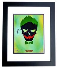 Jared Leto Signed - Autographed Suicide Squad - The Joker 11x14 Photo - 30 Seconds to Mars - BLACK CUSTOM FRAME