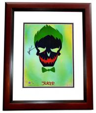 Jared Leto Signed - Autographed Suicide Squad - The Joker 11x14 Photo - 30 Seconds to Mars - MAHOGANY CUSTOM FRAME