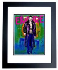 Jared Leto Signed - Autographed Suicide Squad - The Joker 11x14 Photo - 30 Seconds to Mars Singer - BLACK CUSTOM FRAME