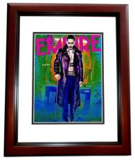 Jared Leto Signed - Autographed Suicide Squad - The Joker 11x14 inch Photo - 30 Seconds to Mars Singer - MAHOGANY CUSTOM FRAME - Guaranteed to pass PSA or JSA
