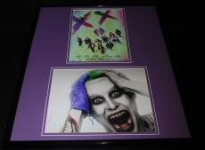 Jared Leto Signed Framed 16x20 Photo Set AW Suicide Squad Joker