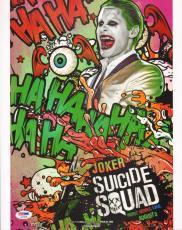 Jared Leto Signed Suicide Squad 11x14 Photo PSA/DNA COA Joker Picture Autograph