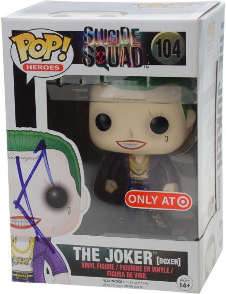 Jared Leto Suicide Squad Autographed #104 Boxer Joker Funko Pop! - JSA