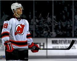 "Jaromir Jagr New Jersey Devils Autographed 16"" x 20"" Spotlight Photograph with 700th Goal 3/1/14 Inscription"