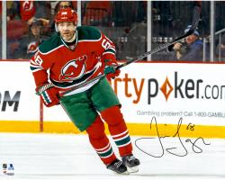 "Jaromir Jagr New Jersey Devils Autographed Skating with Puck 16"" x 20"" Photograph"