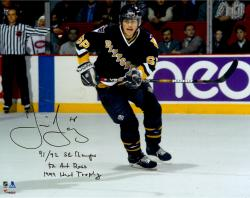 "Jaromir Jagr Pittsburgh Penguins Autographed 16"" x 20"" Photograph with Multiple Inscriptions"