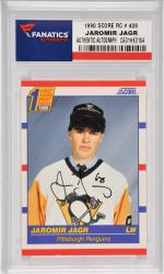 Jaromir Jagr Pittsburgh Penguins Autographed 1990 Score Rookie #428 Card